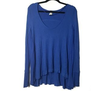 Free People We the Free waffle knit crew neck top
